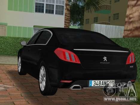 Peugeot 508 e-HDi 2011 para GTA Vice City left