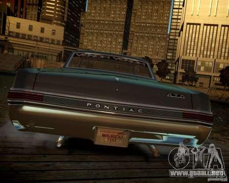 Pontiac GTO DF para GTA 4 vista interior