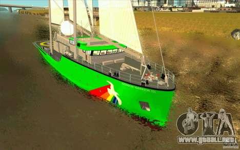 Rainbow Warrior para GTA San Andreas