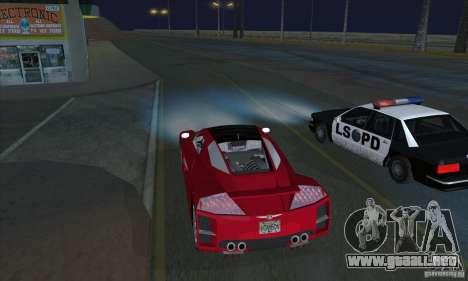 Faros de Xenon (faros de xenón) para GTA San Andreas segunda pantalla