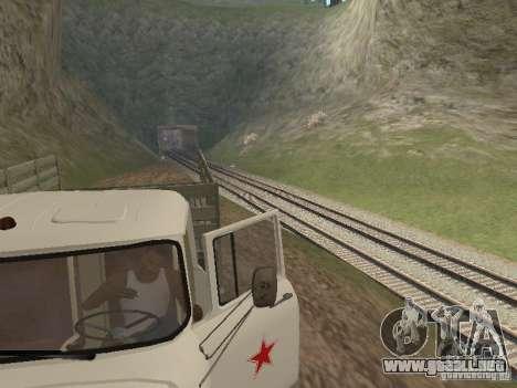 ZIL 131 Main para GTA San Andreas vista hacia atrás