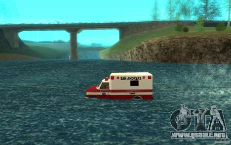 Ambulan boat para GTA San Andreas left