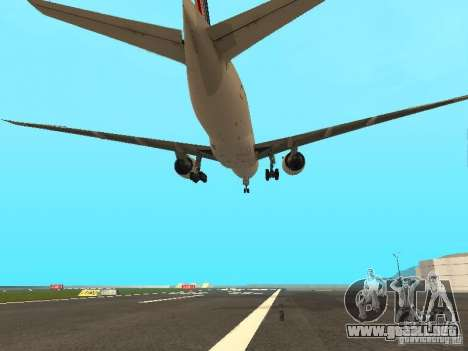 Boeing 777-200 Air France para vista lateral GTA San Andreas