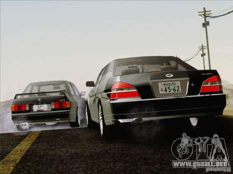 Nissan Laurel GC35 Kouki Unmarked Police Car para la vista superior GTA San Andreas