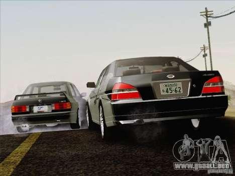 Nissan Laurel GC35 Kouki Unmarked Police Car para la vista superior GTA San Andreas