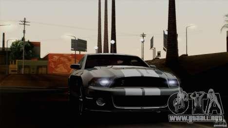 Ford Shelby GT500 2011 para GTA San Andreas vista posterior izquierda