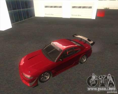 Nissan Silvia S15 with AKATSUKI paintjob para GTA San Andreas vista hacia atrás