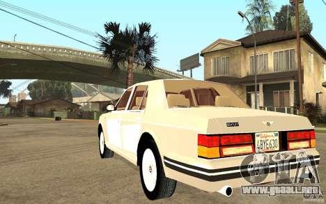 Bentley Turbo RT para GTA San Andreas vista posterior izquierda