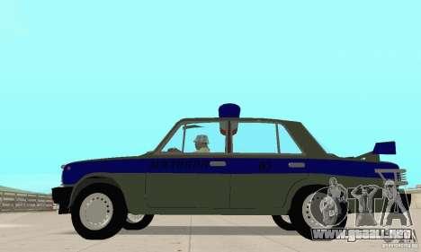 VAZ 2101 policía para la visión correcta GTA San Andreas