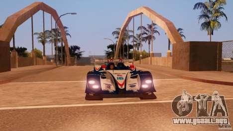 Porsche RS Spyder EVO Dyson Racing para GTA San Andreas vista posterior izquierda