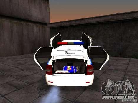 LADA 2170 policía para visión interna GTA San Andreas