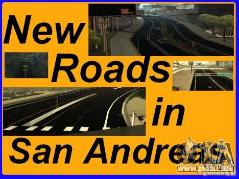 New Roads in San Andreas para GTA San Andreas