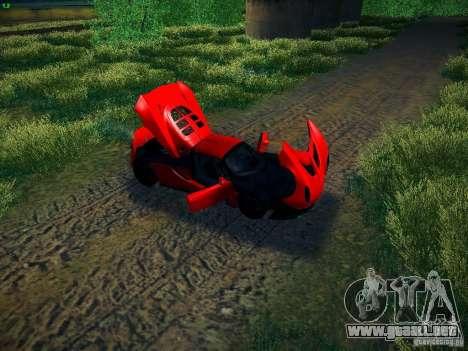 Hennessey Venom GT Spyder para GTA San Andreas vista hacia atrás