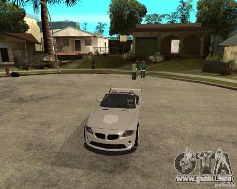 BMW Z4 Supreme Pimp TUNING volume II para visión interna GTA San Andreas