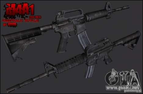 Colt M4A1 Commando Silenced para GTA San Andreas segunda pantalla