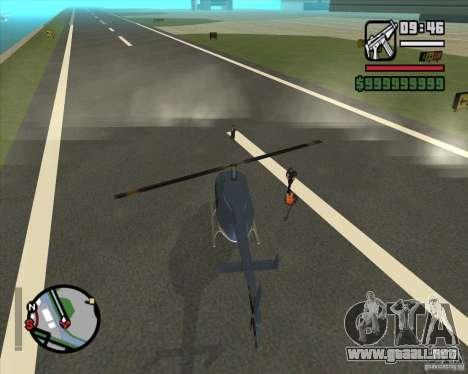 Piloto de trabajo para GTA San Andreas sucesivamente de pantalla