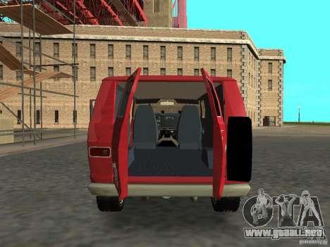 Dodge Tradesman 7z para la visión correcta GTA San Andreas
