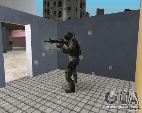 Escarcha de CoD MW3 para GTA Vice City sucesivamente de pantalla