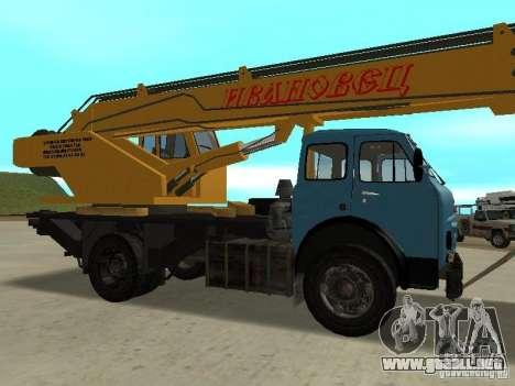 MAZ KS3577-4-1 Ivanovets para la visión correcta GTA San Andreas
