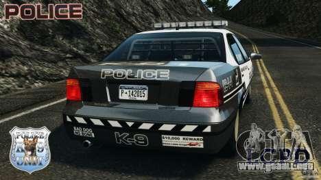 LCPD K9 Unit para GTA 4 Vista posterior izquierda