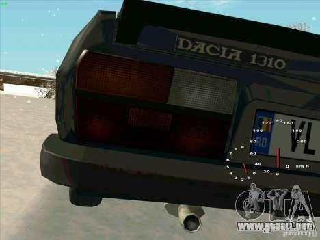 Dacia 1310 Sport para GTA San Andreas vista hacia atrás