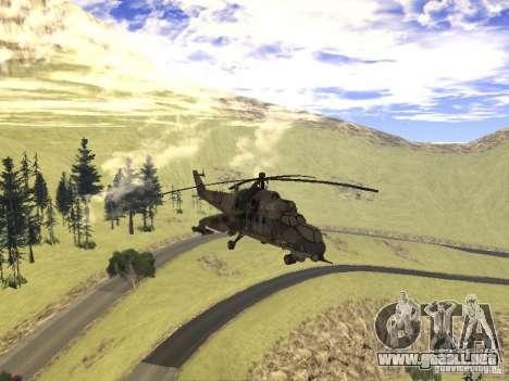 Mi-24 de COD MW 2 para visión interna GTA San Andreas