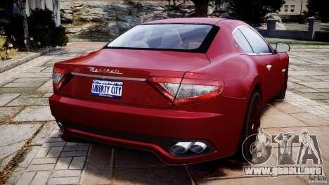 Maserati GranTurismo v1.0 para GTA 4 Vista posterior izquierda