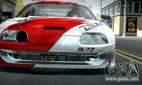 Toyota Supra JZA80 RZ Dragster para GTA San Andreas vista hacia atrás