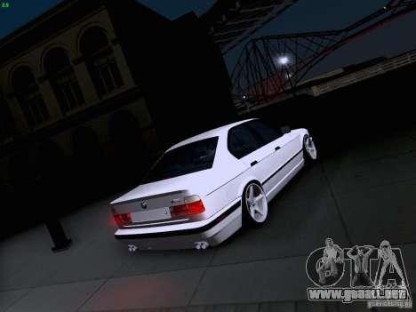 BMW M5 E34 Stance para vista lateral GTA San Andreas