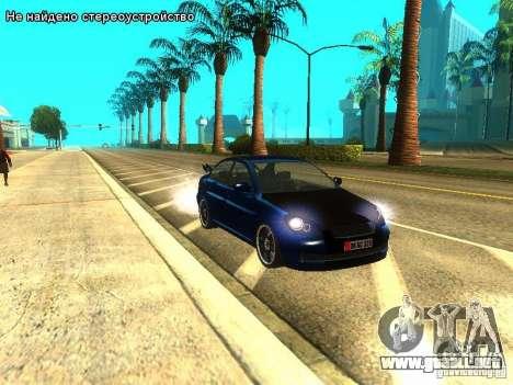Hyundai Accent Era para GTA San Andreas vista posterior izquierda