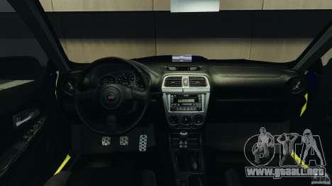 Subaru Impreza British ANPR [ELS] para GTA 4 vista hacia atrás