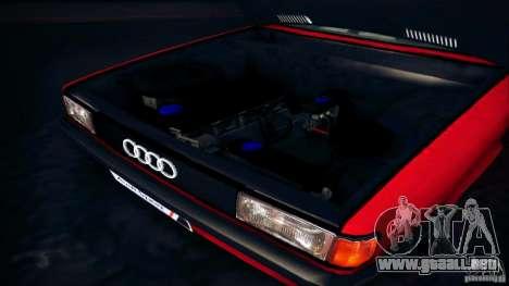 Audi 80 B2 para GTA San Andreas vista hacia atrás