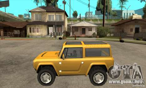 Ford Bronco Concept para GTA San Andreas left