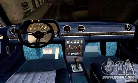 Mercedes Benz W123 para visión interna GTA San Andreas