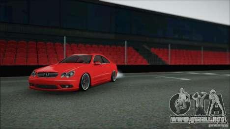 Mercedes CLK 55 AMG para GTA San Andreas vista posterior izquierda
