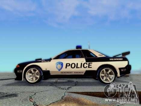 Nissan Skyline R32 Police para la visión correcta GTA San Andreas