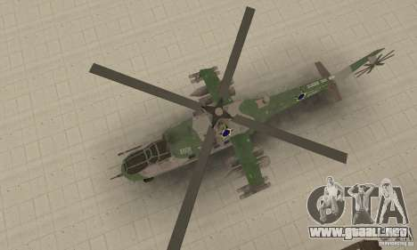 Un helicóptero desde el conflicto Global SSSR para la visión correcta GTA San Andreas