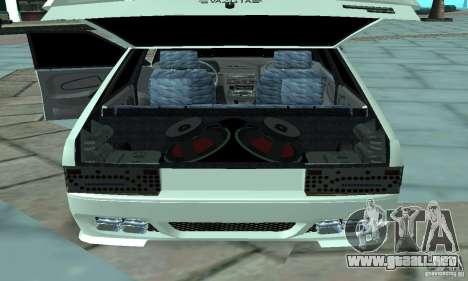 ВАЗ 2114 Tuning para GTA San Andreas vista hacia atrás