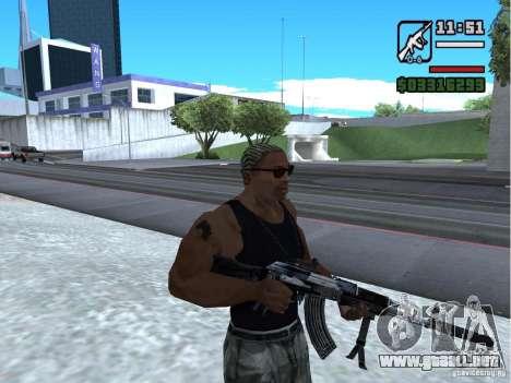 AK-103 de WARFACE para GTA San Andreas segunda pantalla
