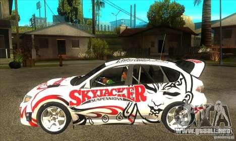 Subaru Impreza WRX STi Skyjacker de DiRT 2 para GTA San Andreas left