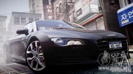 Audi R8 Spyder 5.2 FSI Quattro V4 [EPM] para GTA 4 interior