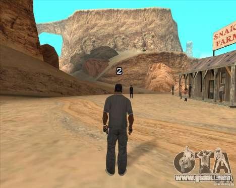 Duelo de vaquero para GTA San Andreas sucesivamente de pantalla