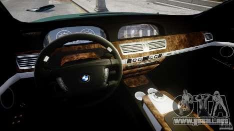 BMW 7 Series E66 para GTA 4 vista hacia atrás