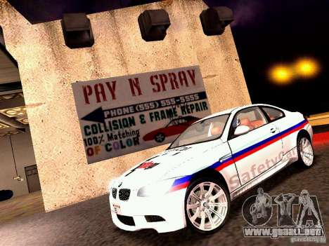 BMW M3 MotoGP SafetyCar para GTA San Andreas left