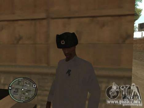 Ushanka para GTA San Andreas segunda pantalla