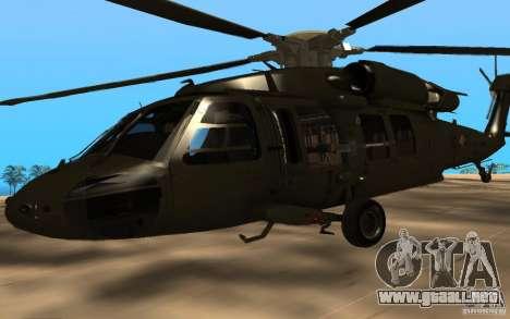 UH-60 Silent Hawk para la visión correcta GTA San Andreas