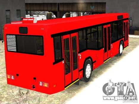 MAZ 5295 v2.0 final para GTA 4 Vista posterior izquierda