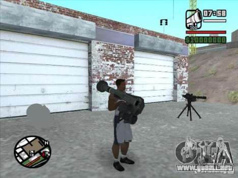 FGM-148 Dževlin para GTA San Andreas tercera pantalla