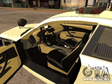 Bmw 135i coupe Police para GTA San Andreas vista posterior izquierda