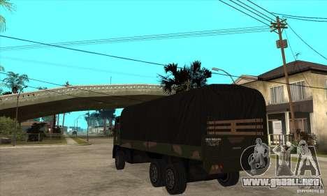 DFT-30 Brazilian Army para GTA San Andreas vista posterior izquierda